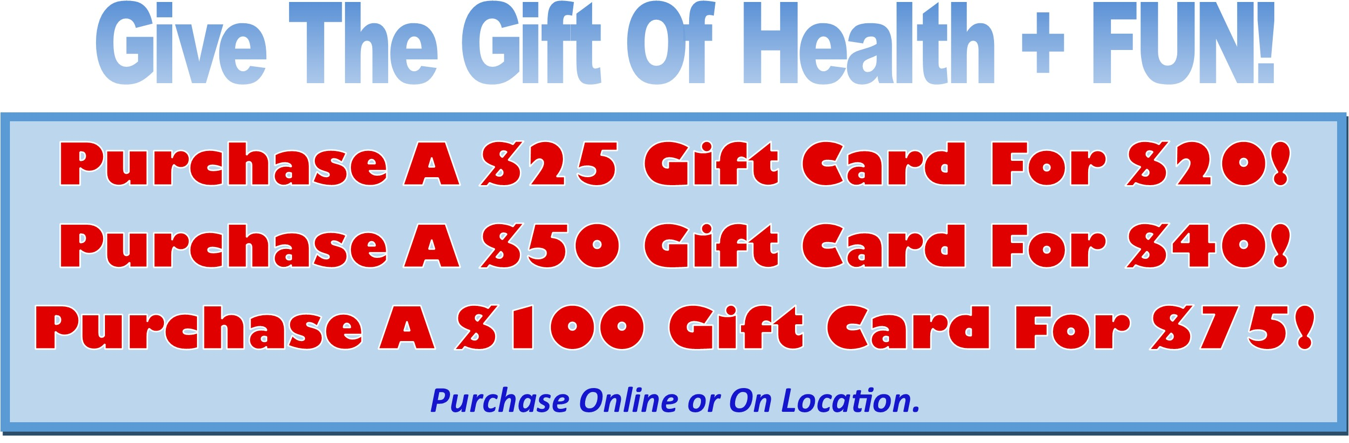 gift cards lakeshore roller world